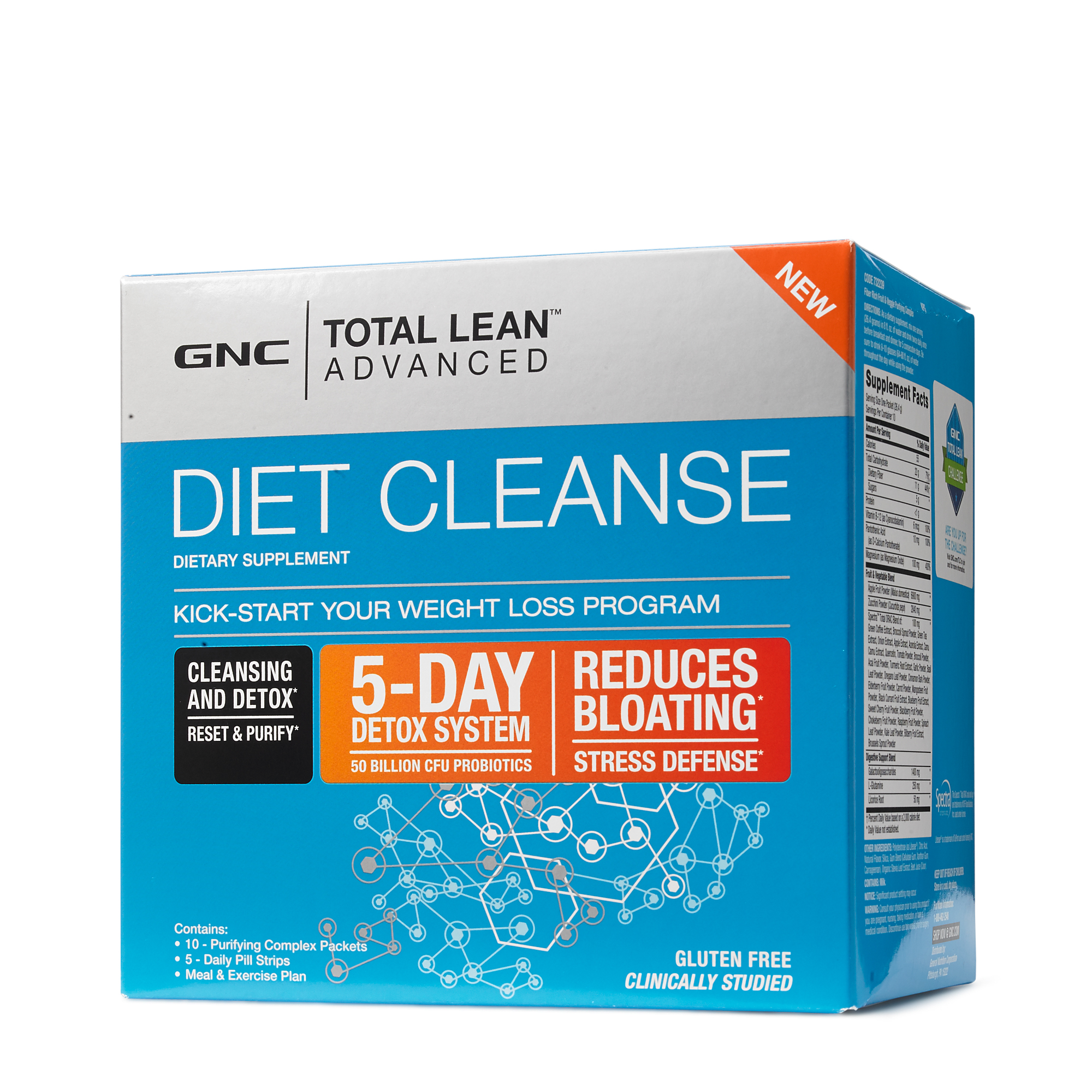 gnc total lean™ advanced diet cleanse 5 day detox \u0026 cleanse gnc