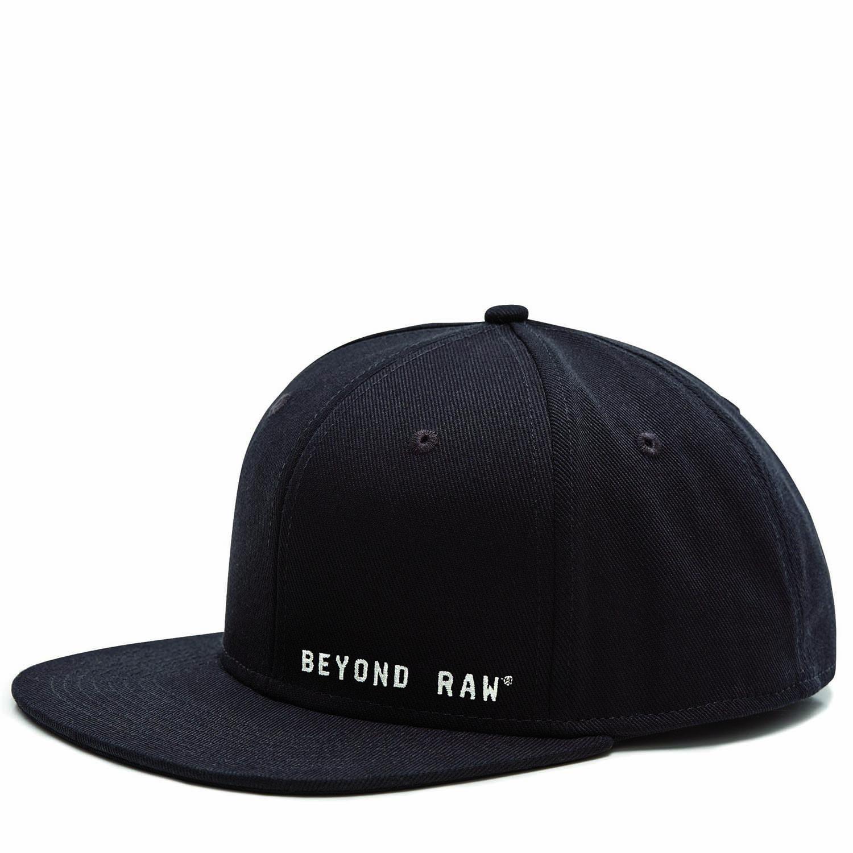 Beyond Raw® Flat Bill Black Hat  fd6c9b65a36