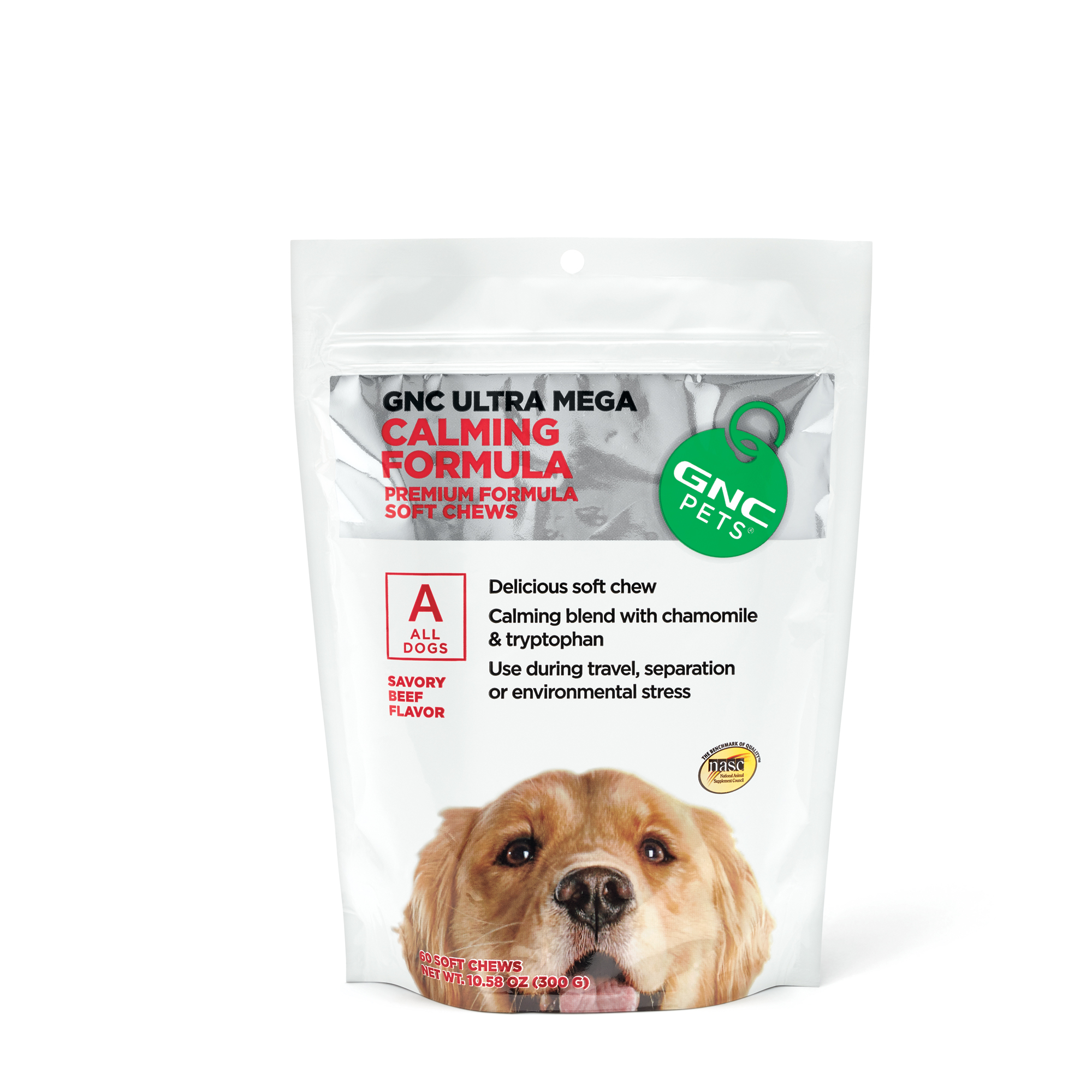 Ultra Mega Calming Formula Soft Chews for All Dogs - Beef Flavor