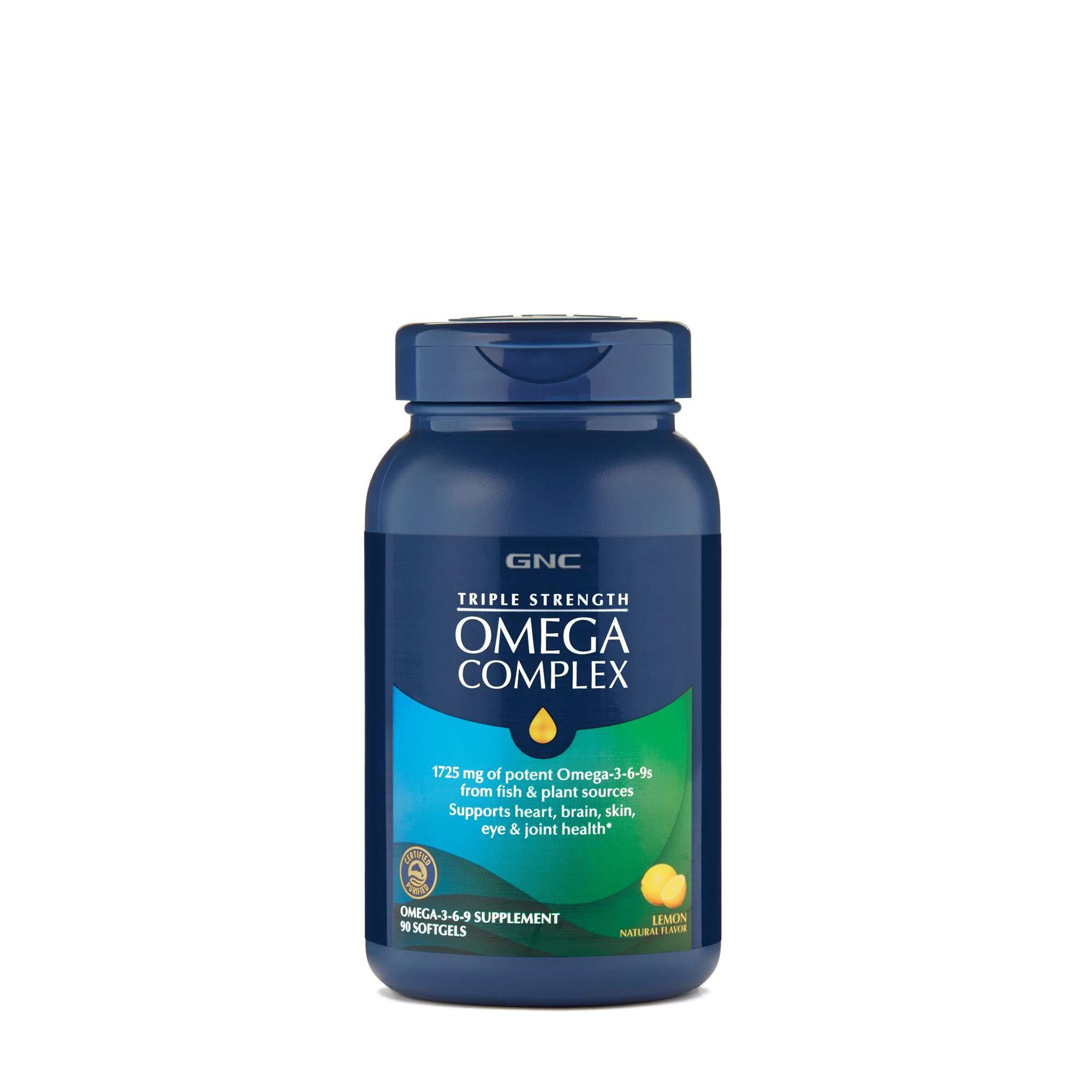 Gnc Triple Strength Omega Complex Lemon Gnc