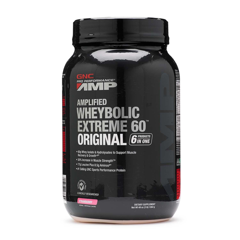 GNC Pro Performance® AMP Amplified Wheybolic Extreme 60™ Original - Strawberry | GNC