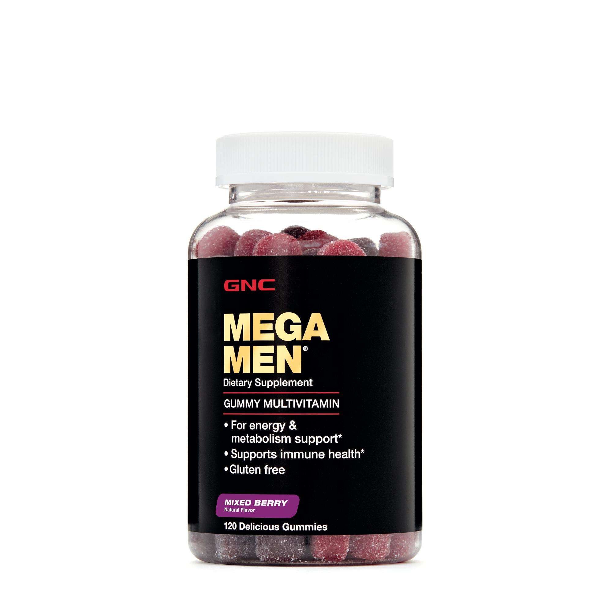 Gnc Mega Men Gummy Multivitamin Mixed Berry Vitamins For Wellness Kids 30 Gummies
